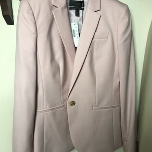 J Crew Super 120s light pink suit jacket (w/skirt)